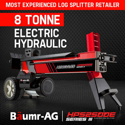 NEW BAUMR-AG 8T Electric Log Splitter Hydraulic Wood Firewood Block Cutter Axe