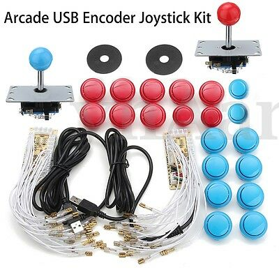 Arcade DIY Kits Parts USB Encoder For PC China Sanwa Joystick & 20Pcs Buttons