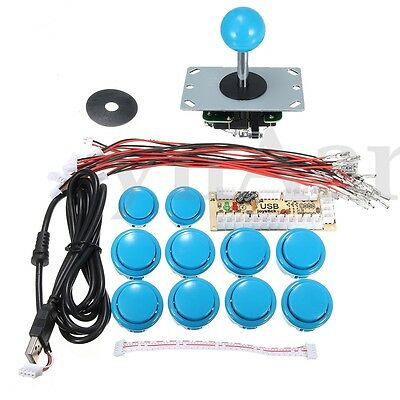 Zero Delay Arcade Game Controller USB Joystick Kit Set for MAME Raspberry Pi