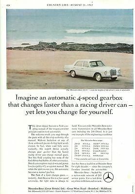 1967 Mercedes Automatic Transmission Magazine Advert