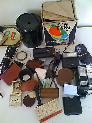 Job lot 20  collection of vintage  CAMERA accessories AND FLASH