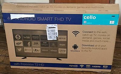 "Cello C40ANSMT V2 40"" Android Smart FHD LED TV With Wi-Fi & Freeview T2 HD (New)"