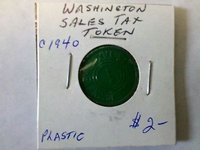 State Of Washington Sales Tax Token c1940