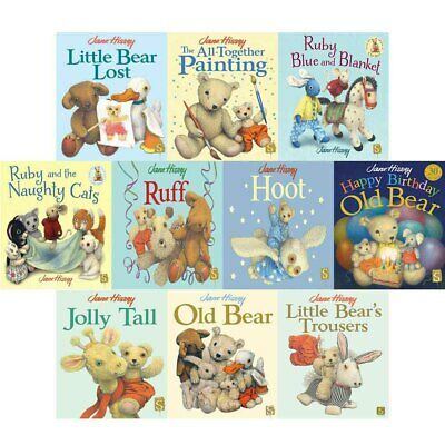 Jane Hissey Collection Old Bear Series 10 Books Set Pack Little Bear Lost NEW