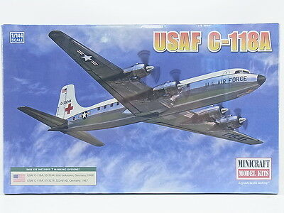 LOT 11331 | Minicraft 14667 USAF C-118A Propeller 1:144 Bausatz NEU in OVP