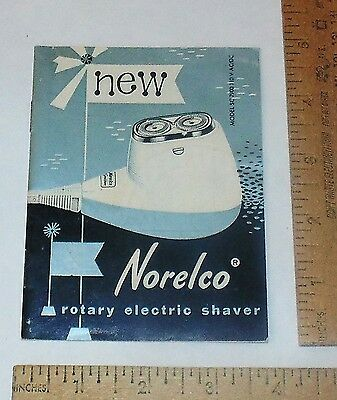NORELCO Rotary Electric SHAVER - Instruction MANUAL - MODEL SC 7900 - Booklet