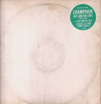 """Champaign(12"""" Vinyl)Off And On Love-CBS-TA 4768-UK-1984-VG/VG"""