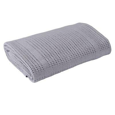 Clair De Lune Cellular Cot Bed Blanket (Grey)