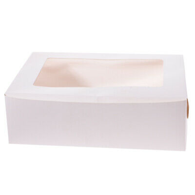 20x Kraft Paper Cupcake Box with Window Holder Bakery Box Wedding Party Favor