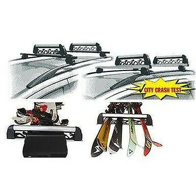 Ski Roof Rack Locksmiths Aluski 4 Pairs Sci O 2 Snow Applicable On Roof Bars