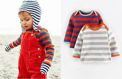 Baby Boden Twin Pack soft cotton stripe layering top shirt BNIB 2-3 years boys