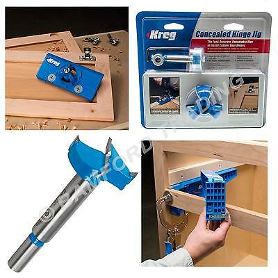 Kreg Concealed Hinge Hole Jig for Kitchen Cabinet Doors with Drill Bit