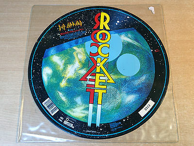 "EX- !! Def Leppard/Rocket/1987 Bludgeon Riffola Picture Disc 12"" Single"