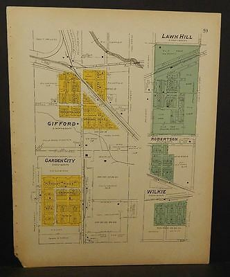 Iowa Hardin County Map Gifford Lawn Hill Garden City  1916   L10#37