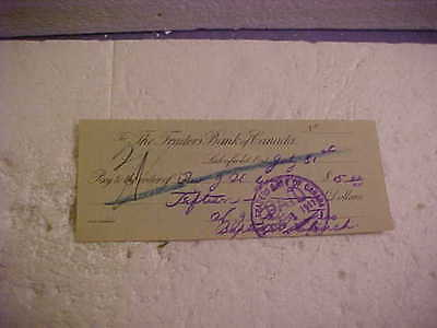 1911 Traders Bank Of Canada Cancelled Cheque Lakefield Ontario