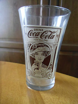 DRINK COCA-COLA-Mother's Pizza-16 oz FLARED DRINKING GLASS.
