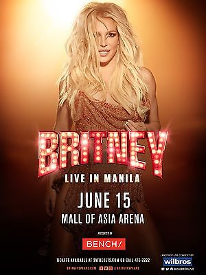 "Britney Spears Manilla 16"" x 12"" Photo Repro Concert Poster"