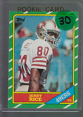 1986 Topps #161 Jerry Rice RC SF 49ers Rookie Card HOF