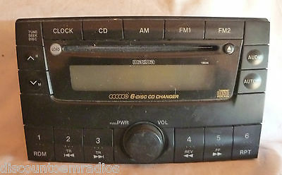 00-01 Mazda Mpv Radio 6 Disc Cd Player Faceplate Replacement LC72669RXB OEM
