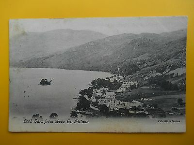 Loch Earn ST FILLANS Nr Comrie Perthshire *Vintage* 1904 Crieff Postmark