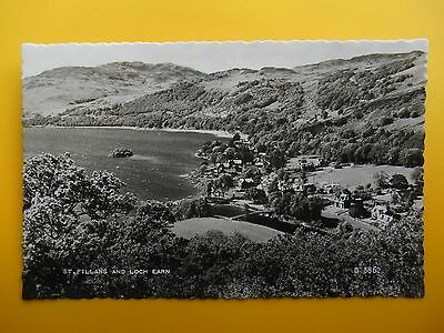 Village Houses & Loch Earn ST FILLANS Nr Comrie Perthshire RP 1960 Standard Size