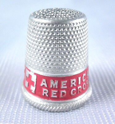 American Red Cross Thimble WWII war military sewing kit Neutrality Humanity