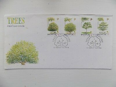 First Day Cover Singapore Trees 1996