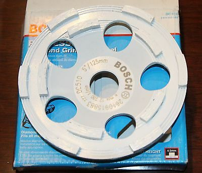 Bosch DC510 5-Inch Diamond Cup Grinding Wheel For Concrete BRAND NEW