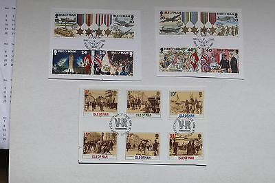 Isle Of Man Stamps, 3 x First Day of Issue Cuts    # 1152