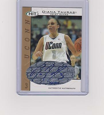 Diana Taurasi 2004 Autographed Signed Sage Hit #a3 135/250 Gold Uconn Phoenix