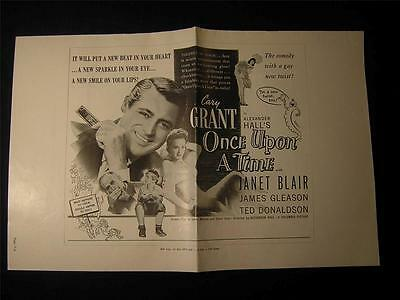 1944 Once Upon A Time Cary Grant VINTAGE MOVIE PHOTO Pressbook OS100