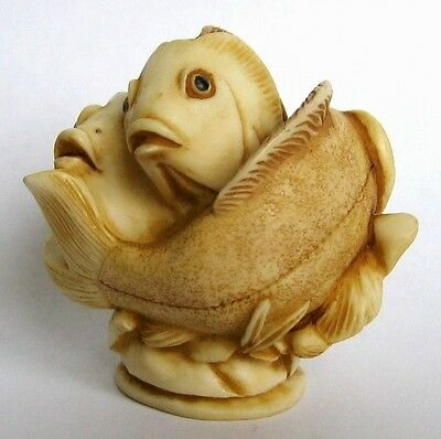 Martin Perry - QTs - Small Fish Figurine / Ornament - Inspired by Netsuke - BNIB