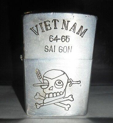 1964 ZIPPO LIGHTER - CIA - SAIGON - EXPLOITATION TEAM - USSF - Vietnam War, 8637