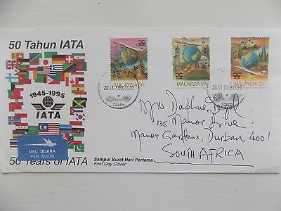First Day Cover 1995 Malaysia 50 Years of IATA