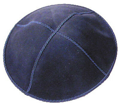 Kippah - Genuine Suede Navy Blue - Imported from Israel