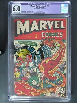Marvel Mystery Comics #53 - CGC Restored 6.0 FN - Timely 1944 - Human Torch!!!