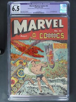 Marvel Mystery Comics #22 - CGC Restored 6.5 FN+ Timely 1941 - Sub-Mariner/Torch