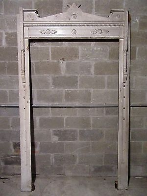 ~ Antique Carved Walnut Door ~ Window Molding Framework ~ Architectural Salvage