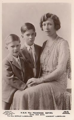 MARY PRINCESS ROYAL & her Lascelles Sons 1930s Photo Speaight Beagles RPPC 533B