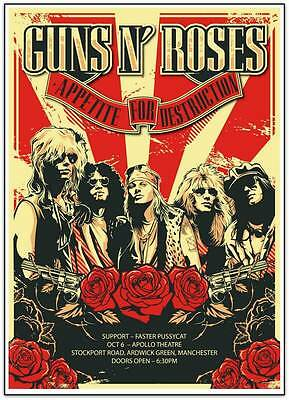 Guns And Roses - Appetite For Destruction - Apollo Theatre - Manchester - Poster