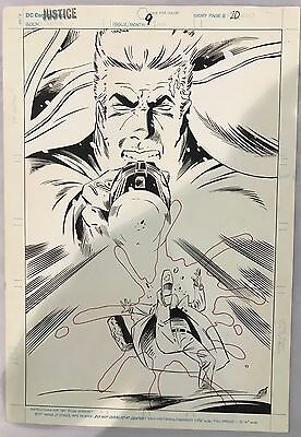 JUSTICE #9 page 20 ORIGINAL KEITH GIFFEN COMIC ART PAGE! NEW UNIVERSE!