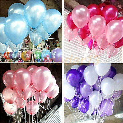 100-10000 PCS Birthday Wedding Baby Shower Party Pearl Latex Balloons 10""