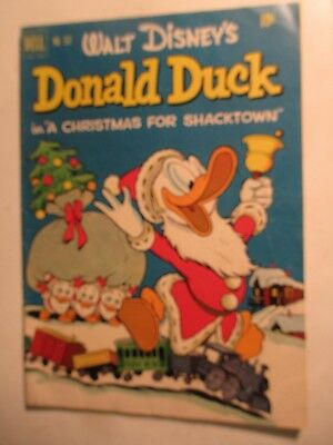 "1952 Dell #367 Disney DONALD DUCK Comic ""Christmas For Shacktown"" Carl Barks"