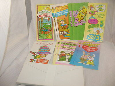 Lot Of 24 ASSORTED Greeting Cards HUMOROUS Unused w Envelopes BIRTHDAY & OTHERS