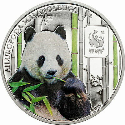 Central African 2015 Panda 100 Francs Coin,Proof