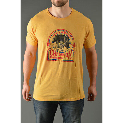 Roots of Fight Cassius Heavyweight Champ T-Shirt - Yellow