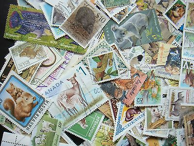 ANIMALS Stamps Thematic 10 grams Whole World Mixed CTO's & Genuine Postage