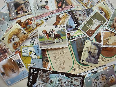 DOGS Stamps Thematic 10 grams Whole World Mixed CTO's & Genuine Postage