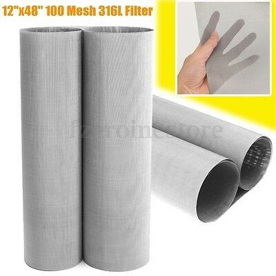 150 Micron Stainless Steel 100 Mesh 316L Filter filtration oil Screen 12''x48''
