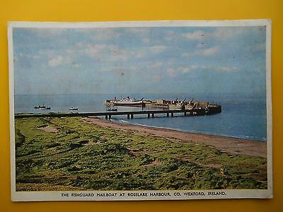 Fishguard Mailboat at Harbour Pier ROSSLARE County Wexford Ireland 1955